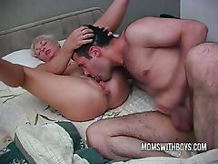 Hot Horny Female parent Wakes StepSon With A Blowjob