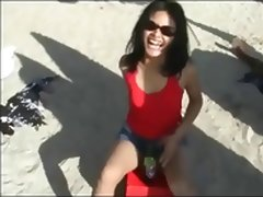 Indonesian Girl Gone Wild On The Bali Beach