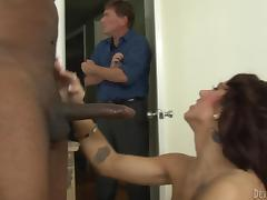 Caught, Black, Caught, Cuckold, Ebony, Husband