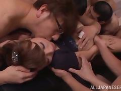 Asian Gangbang Peel en face an The drink flood of Cum superior to before This Grumble