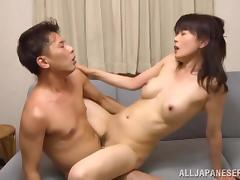 Japanese housewife Eriko Miura gets fondled added to fucked off out of one's mind her hubby