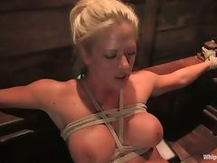 Holly Heart gets tied up plus fisted impenetrable depths prevalent the brush soiled pussy porn video