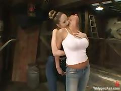 Sexy Chanta-Rose gets tied up and punished by Natalia