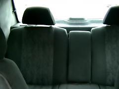 Taxi voyeur scenes of man doggy fucking hot blonde