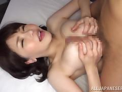 Big tittied Japanese MILF has passionate sex in a bedroom