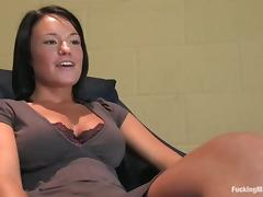 Hot Girl with Nice Boobs Devi Emerson Fucked by Machine