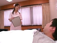 Alluring Asian Nurse Sayuki Kanno Seducing Lucky Patient