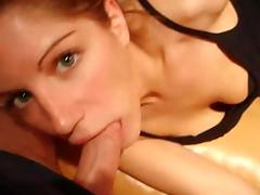 Blonde whore loves to suck and deepthroat cock