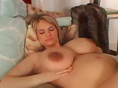 Pregnant huge tits dildo