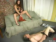 Jamie Gillis gets mercilessly whipped by Kym Wilde and enjoys it