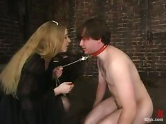 Neil gets humiliated and beaten by Princess Kali in a basement