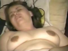 Drilling my chubby twat with a dildo