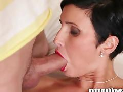 MommyBB Busty euro MILF Maid is sucking the h
