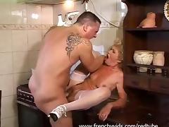 Granny, Big Cock, Big Tits, Blonde, Blowjob, Boobs