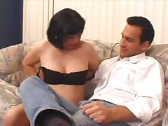 Chubby mature brunette Erica Cane gets fucked and facialed
