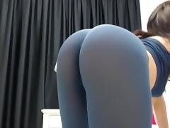 Super hot a-hole in spandex