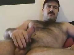 Butch Moustached Man Cums