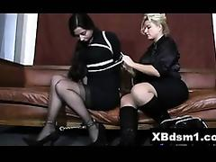 Perky Naughty Chick Bondage Pain