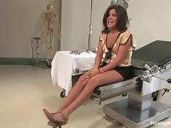 Michele Avanti gets her vag drilled by a fucking machine from behind