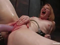 BDSM, BDSM, Fetish, Machine, Redhead, Teen
