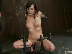 Lindy Lane gets her nipples squeezed in a hot BDSM clip