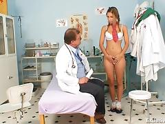Taboo, Blonde, Blowjob, Doctor, European, Gyno