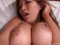 Yume Mizuki shows off her body while masturbating