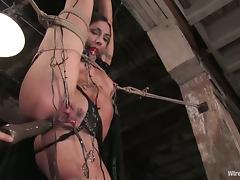 Wenona gets her pussy licked and fucked with a strapon in BDSM clip