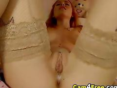 Blonde Slides her Dildo inside her Tight Pussy