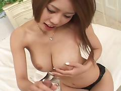 Brunette babe haruka sanada is a blowjob beauty