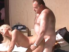 Old and Young, Banging, Bed, Blonde, Blowjob, Cum in Mouth