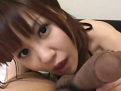 Bedroom, Asian, Bedroom, Blowjob, Brunette, Couple