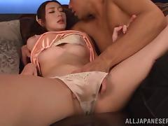 Hot oiled up sex with Kaori Maeda and her man
