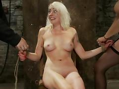Hog tied Lorelei Lee gets toyed and fingered by Isis Love