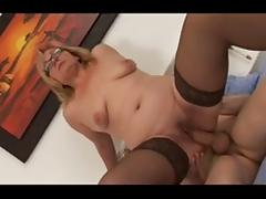 Milf with small saggy tits and glasses porn video