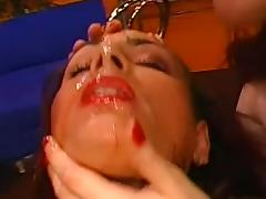 Jana takes cum in mouth after blowjob and pissing