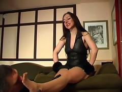 Mature Feet-Very Deep Sniffing on Sweaty Nylon Stockings