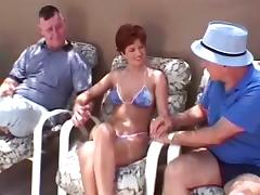 Mom and Boy, Amateur, Blowjob, Close Up, Doggystyle, Gangbang