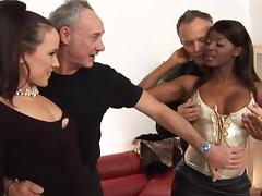 All, British, Foursome, Interracial, 4some
