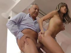 Old and Young, Beauty, Blowjob, Riding, Russian, Teen