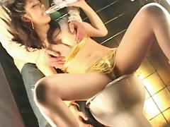 Japanese Yuki Inaba is sucking her tasty dildo