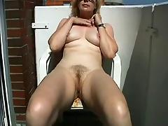 Balcony, Amateur, Fingering, Masturbation, Mature, Old
