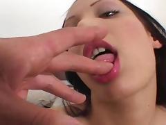 Renato fuck brunette Viky in her pussy