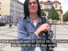 PublicAgent - Laura is fucked herd in public
