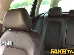 FakeTaxi: College cutie with large natural boobs pays her way
