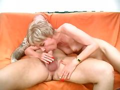 Mature Rosalie gets facialized after pussy pounding
