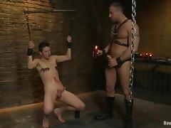 Severe treatment is going on in this BDSM action