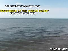 Slutwife creampied by strangers at the beach