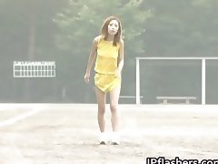 Asian amateur in nude track