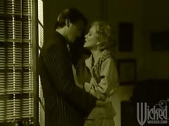 Retro style video with Norma Jean fucking in an office